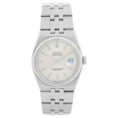 Rolex Oysterquartz Day-Date Men's 18 Karat White Gold President Watch 17014
