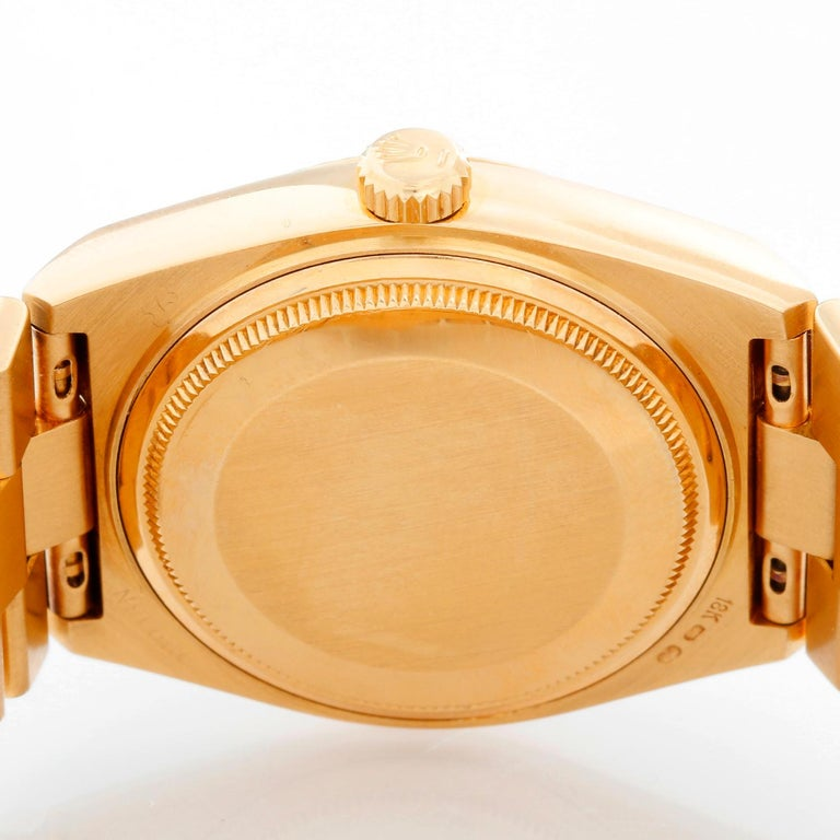 Rolex Oysterquartz Day-Date Men's 18 Karat Gold President Watch 19018 For Sale 1