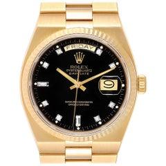 Rolex Oysterquartz President Day-Date Yellow Gold Diamond Watch 19018