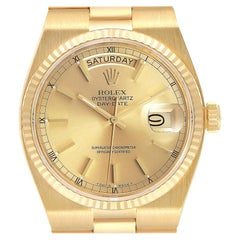 Rolex Oysterquartz President Day-Date Yellow Gold Mens Watch 19018