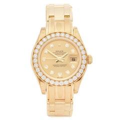 Rolex Pearlmaster 18 Karat Yellow Gold Women's 80298