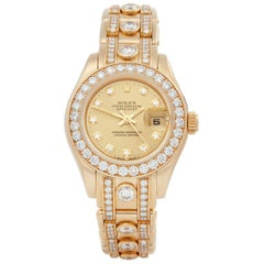 Rolex Pearlmaster 29 Diamond Yellow Gold 69298 Wristwatch