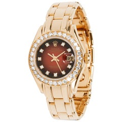 Rolex Pearlmaster 69298 Women's Watch in 18 Karat Yellow Gold