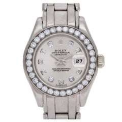 Rolex Pearlmaster 69299, Silver Dial, Certified and Warranty