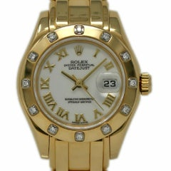 Rolex Pearlmaster 69318 18 Karat Yellow Gold Diamond Paper/2 Year Warranty