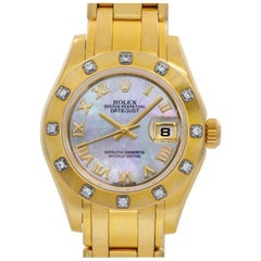 Rolex Pearlmaster 80318 18 Karat Mother of Pearl Dial Automatic Watch