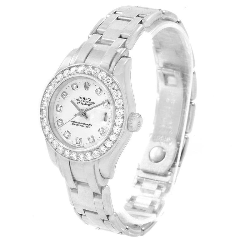 Rolex Pearlmaster Masterpiece 18 Karat White Gold Diamond