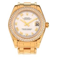 Rolex Pearlmaster Mid Size 18 Karat Gold Ladies Watch Ref 81339