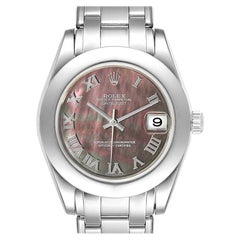 Rolex Pearlmaster Midsize White Gold Mother of Pearl Ladies Watch 81319