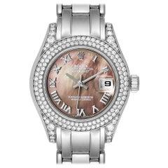 Rolex Pearlmaster White Gold MOP Diamond Ladies Watch 69359