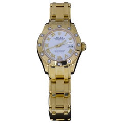Rolex Pearlmaster Yellow Gold Diamond Watch