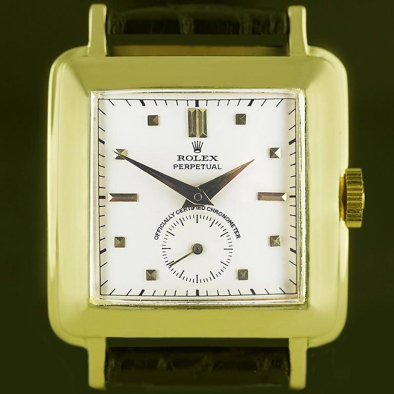 Rolex Perpetual Automatic 18 Carat Gold, circa 1951 For Sale 6