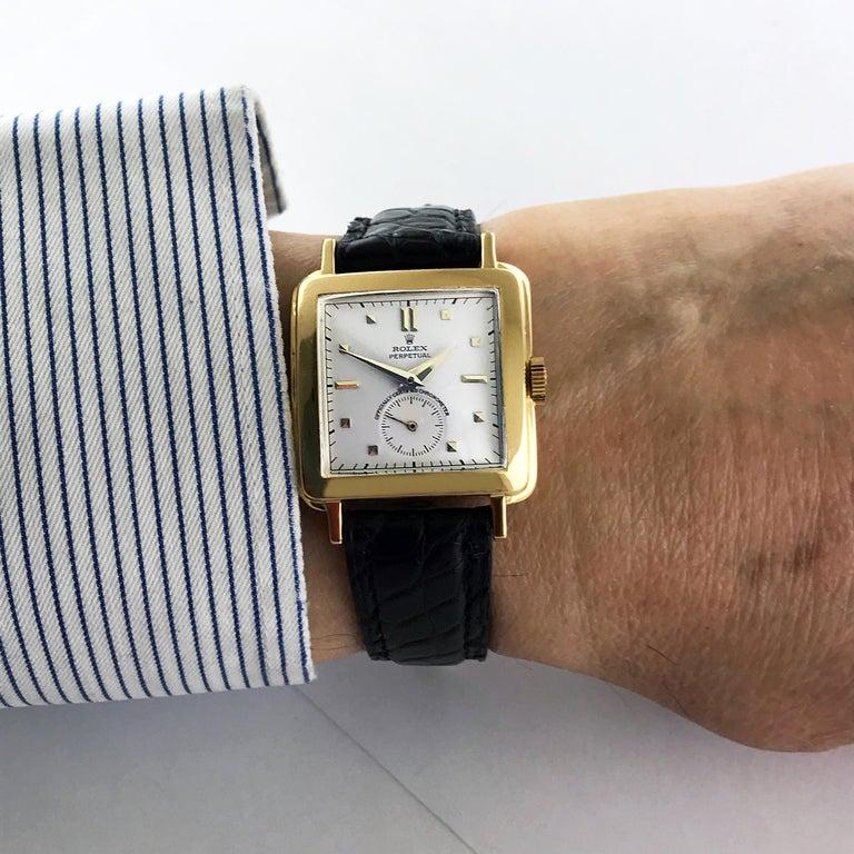 Rolex Perpetual Automatic 18 Carat Gold, circa 1951 For Sale 1