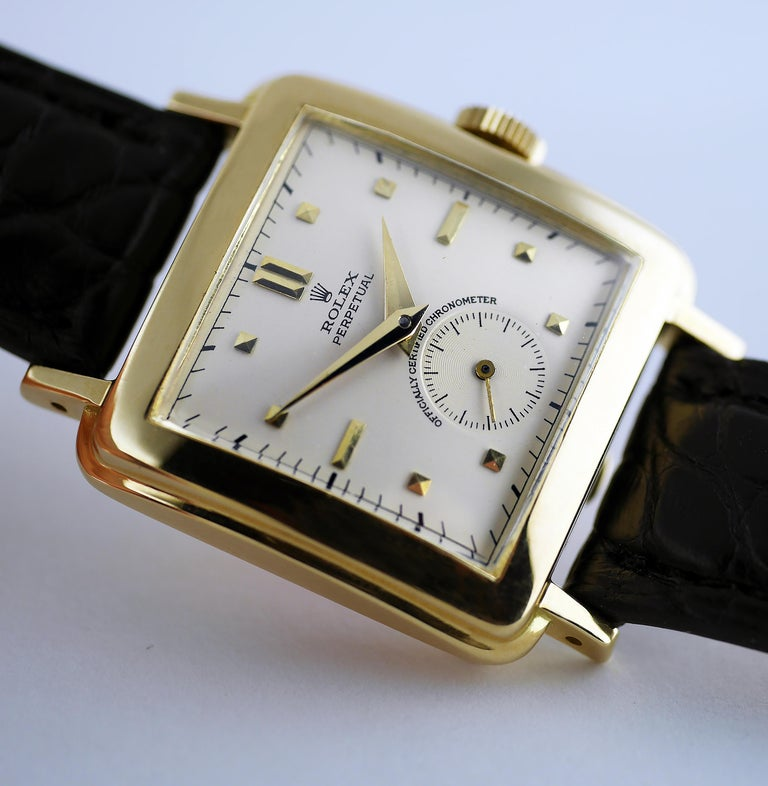 Rolex Perpetual Automatic 18 Carat Gold, circa 1951 For Sale 3