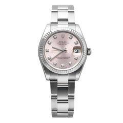 Rolex Pink Oyster Datejust Ladies Diamond Watch 178274