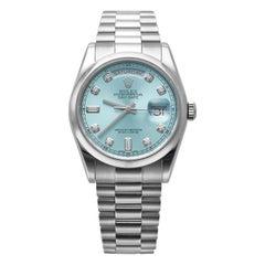 Rolex Platinum Day Date Ice Blue Diamond Dial