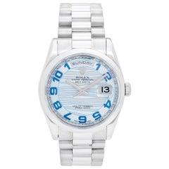 Rolex Platinum President Day-Date Men's Watch 118206