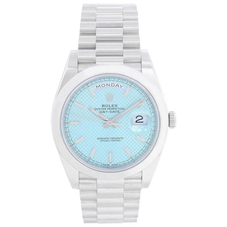 Rolex Platinum President Day-Date Men's Watch 228206 For Sale