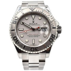 Rolex Platinum Stainless Steel Yachtmaster automatic Wristwatch Ref 16622