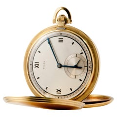 Rolex Pocket Watch Gold 18 Carat, circa 1950 Rolex Mouvement Precision