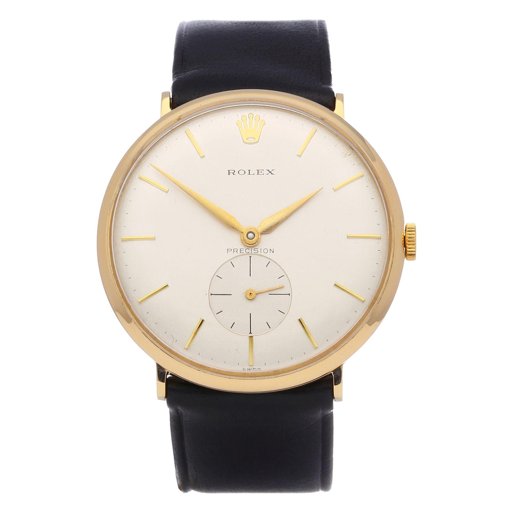 Rolex Precision 1200 Men's Yellow Gold Watch