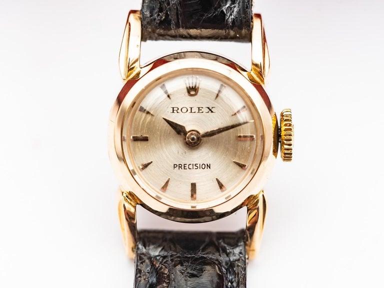 ROLEX 18K Gold Watch For Ladies 1950's Mouvement Mecanic  Precision Ankel 17 Rubis  Original  Red Box  Garantie 1 years