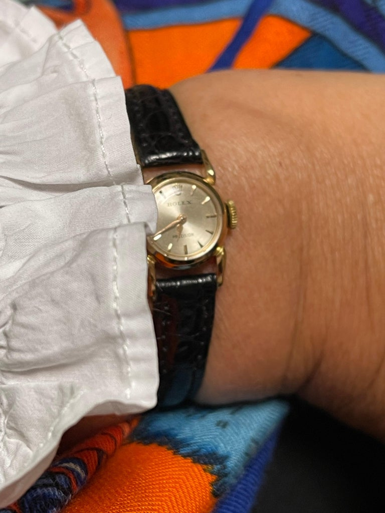 Rolex Precision 18k Gold Watch for Ladies, 1950's 3