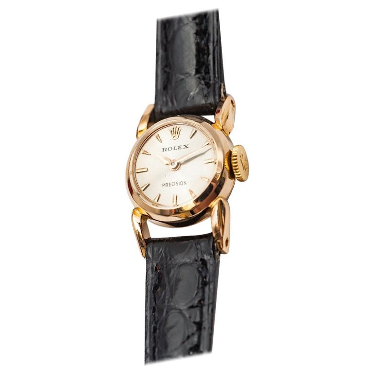Rolex Precision 18k Gold Watch for Ladies, 1950's