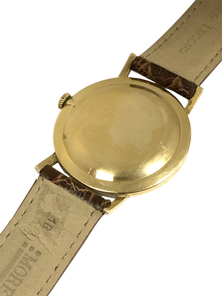 Women's or Men's Rolex Precision 1950 Yellow Gold Mechanical wind Wristwatch For Sale