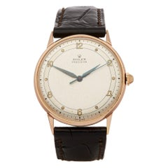 Rolex Precision 34 3745 Men's Rose Gold 2 Adjust Watch