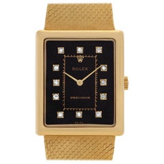 Rolex Precision 4105 18 Karat Black Dial Manual Watch