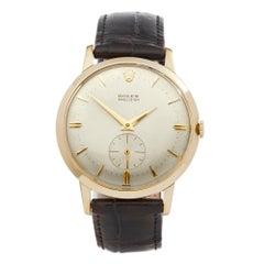 Rolex Precision Chronometer 35 5 Adjust Oversized 18 Karat Yellow Gold 9081