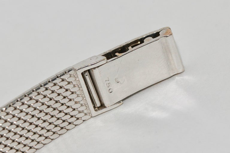 Rolex Precision Ladies Wristwatch, 18 Karat White Gold, with Diamonds For Sale 6