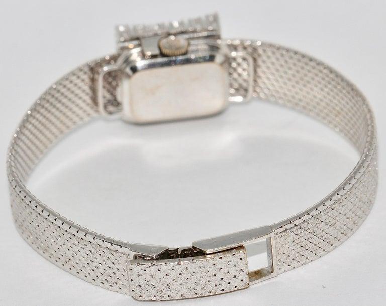Rolex Precision Ladies Wristwatch, 18 Karat White Gold, with Diamonds For Sale 1