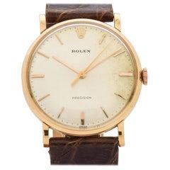 Rolex Precision Reference 9659 18 Karat Rose Gold Watch, 1958