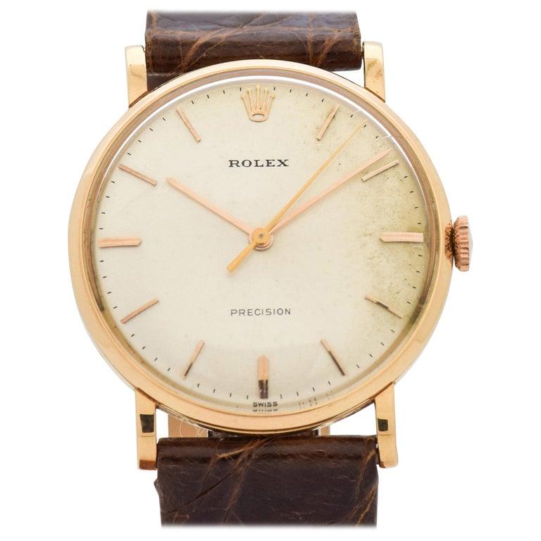 rolex precision reference 9659 18 karat rose gold watch. Black Bedroom Furniture Sets. Home Design Ideas