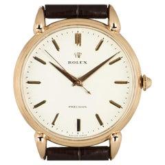 Rolex Precision Teardrop Lugs Rose Gold 4364 Watch