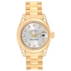 Rolex President Crown Collection 18 Karat Yellow Gold Diamond Watch 179298
