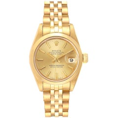 Rolex President Datejust 18 Karat Yellow Gold Ladies Watch 69168