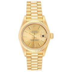Rolex President Datejust 18 Karat Yellow Gold Ladies Watch 69178