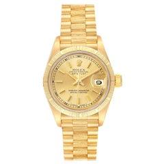 Rolex President Datejust 18 Karat Yellow Gold Ladies Watch 69278