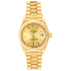 Rolex President Datejust 18 Karat Yellow Gold Ladies Watch 69278
