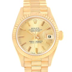 Rolex President Datejust 18 Karat Yellow Gold Ladies Watch 79178