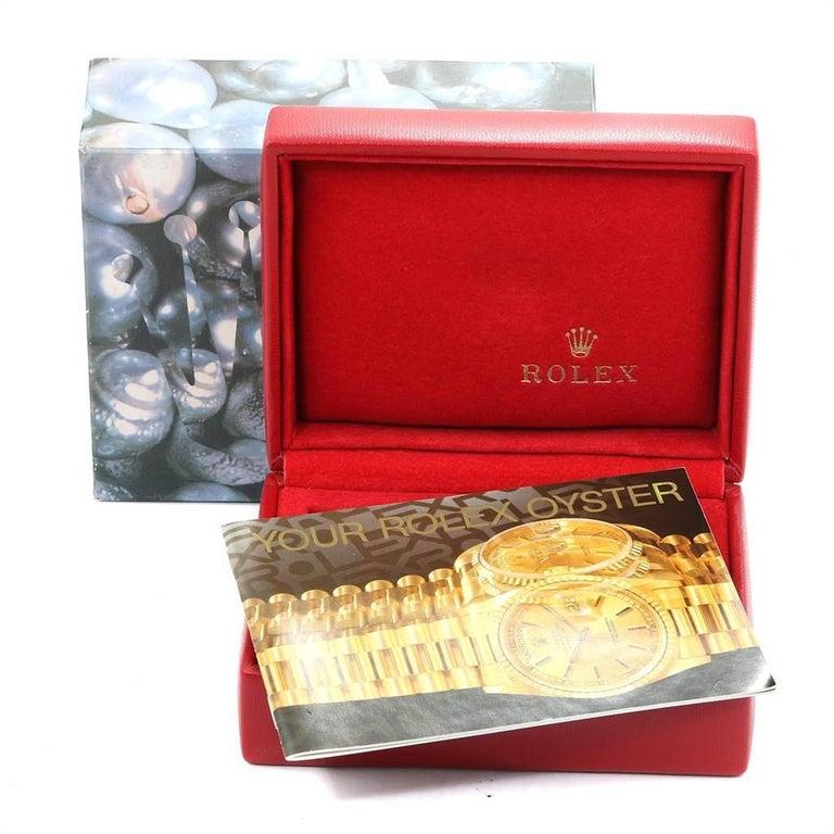 Rolex President Datejust 18 Karat Yellow Gold Ladies Watch 69178 6