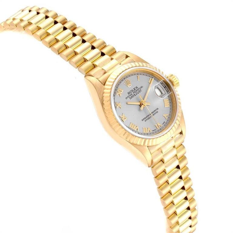 Women's Rolex President Datejust 18 Karat Yellow Gold Ladies Watch 69178