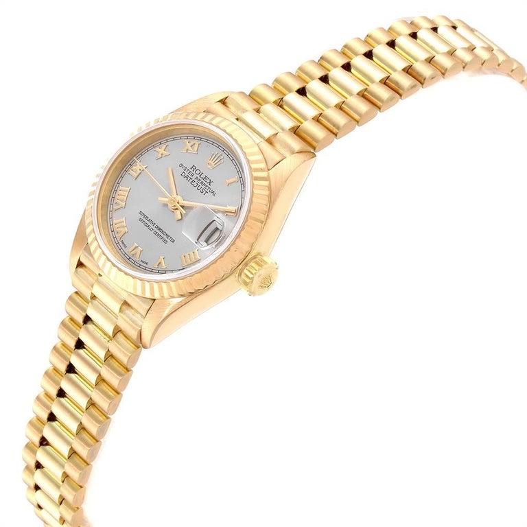 Rolex President Datejust 18 Karat Yellow Gold Ladies Watch 69178 1