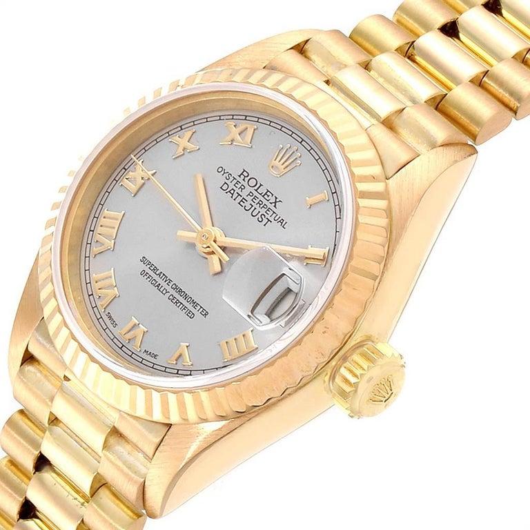 Rolex President Datejust 18 Karat Yellow Gold Ladies Watch 69178 2