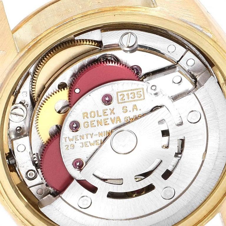 Rolex President Datejust 18 Karat Yellow Gold Ladies Watch 69178 3