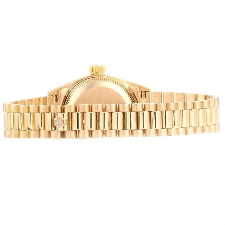 Rolex President Datejust 18 Karat Yellow Gold Ladies Watch 69178 4