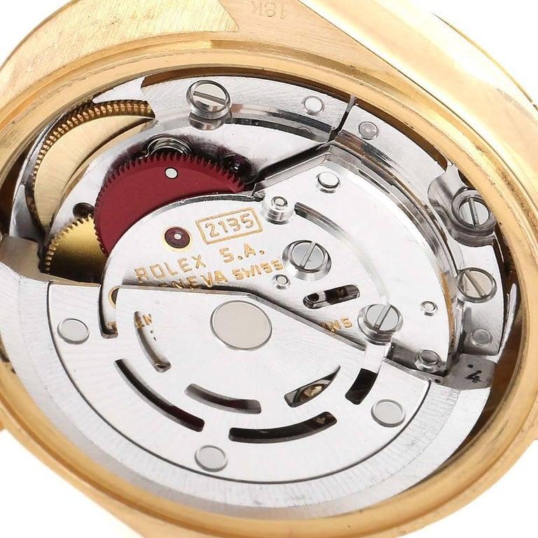 Rolex President Datejust 18K Yellow Gold Diamond Ladies Watch 69178 4